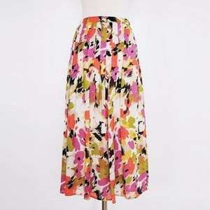 Chaus | Floral Pleated Detailed Midi Skirt